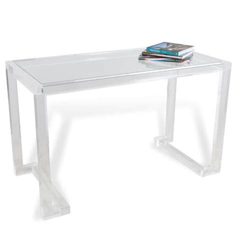 Ava Hollywood Regency Modern Acrylic Desk Ebay White Acrylic Desk
