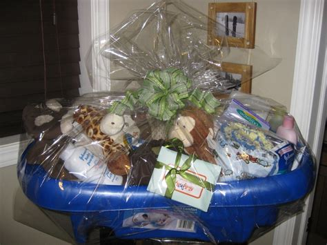 bathtub basket baby shower gift in a baby bath tub baby shower gifts