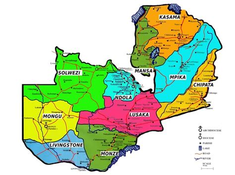 catholic diocese map informations about other zambian dioceses the diocese of