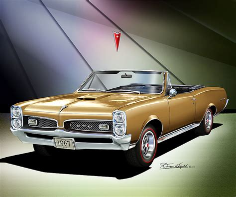 gold convertible 1966 1967 ponitac gto fine art prints and posters by danny