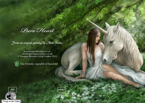 Pagan Home Decor Anne Stokes Pure Heart Unicorn Greeting Card