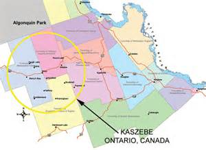 a map of the kaszebe region in ontario canada
