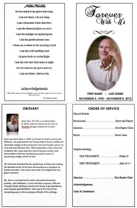 the funeral memorial program blog january 2014