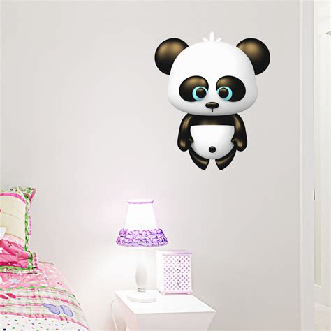 panda wall stickers 3d panda printed wall decal