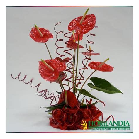 centro tavola fiori centrotavola di anthurium fiorilandia vendita fiori e