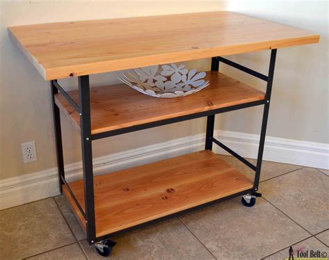rolling kitchen island table rolling island counter table her tool belt