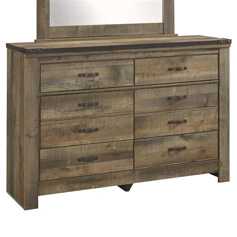 Youth Dresser by Signature Design Trinell Rustic Look Youth Dresser