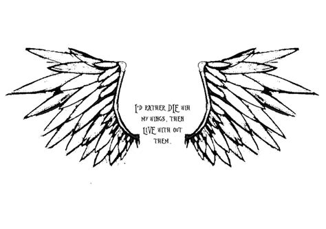angel wings quote tattoo angel wings quotes quotesgram