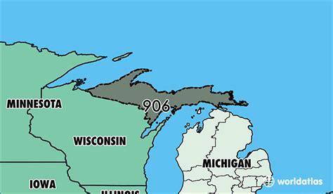 us area code michigan where is area code 906 map of area code 906 marquette