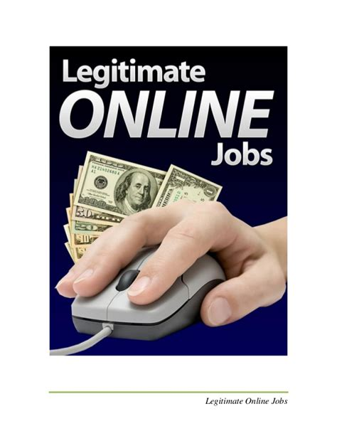 Free Online Jobs Work From Home Canada - legitimate online jobs discover how to find a real job online pdf