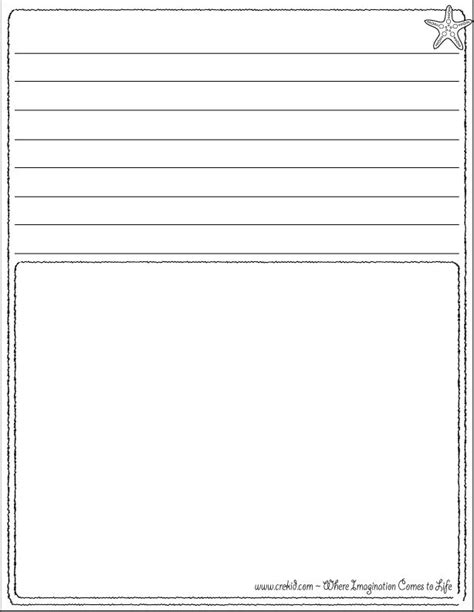 printable story paper for second grade story paper for second grade kids writing spooky stories