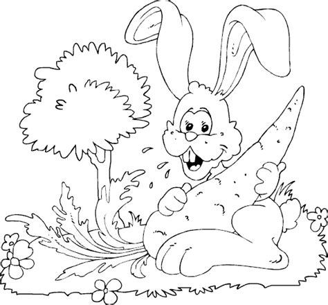big bunny coloring pages rabbit big carrot coloring page coloring com