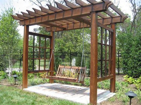 bench trellis eye catching design ideas for patio arbors pergola gazebos