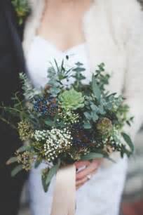 Green amp blue succulent winter bridal bouquet chic vintage brides