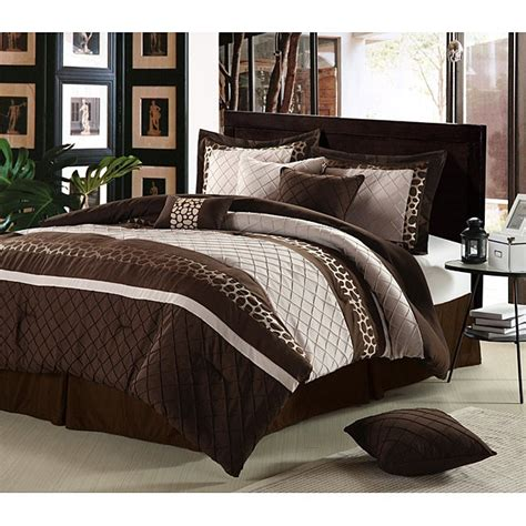 cheetah brown oversized  piece comforter set