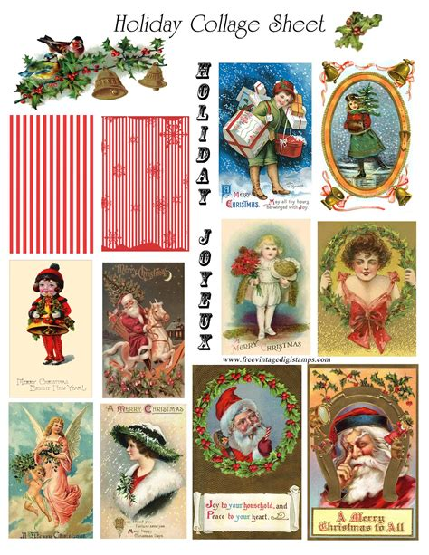 printable digital images christmas on pinterest vintage ornaments vintage