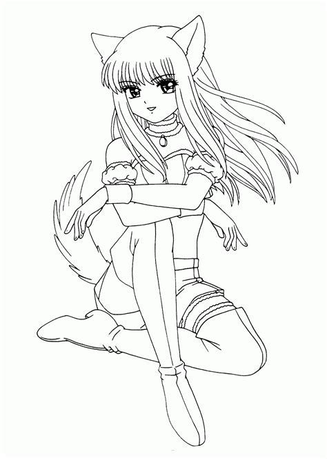 anime girls coloring pages for girls coloring pages for