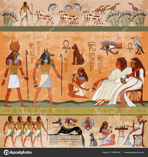 Egyptian Wall Mural ancient egyptian wall murals best free home design