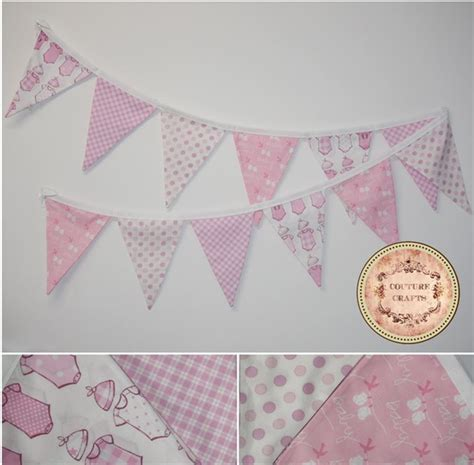 Handmade Baby Bunting - handmade fabric flag banner bunting quot baby quot couture