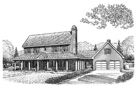 Colonial Garage Plans by Colonial Style House Plans 2699 Square Foot Home 2