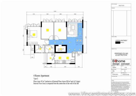 designing a room layout punggol 4 room hdb 207 lighting plan and final layout