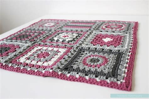 Patchwork Square Afghan - crochet meets patchwork quot afghan fuchsia square