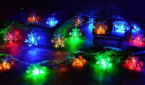 100 light snowflake 10m 100 snowflake string lights led waterproof lights outdoor ac for