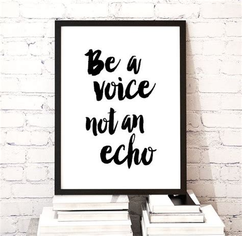 printable typography art motivational quote wall art printable poster quot be a voice