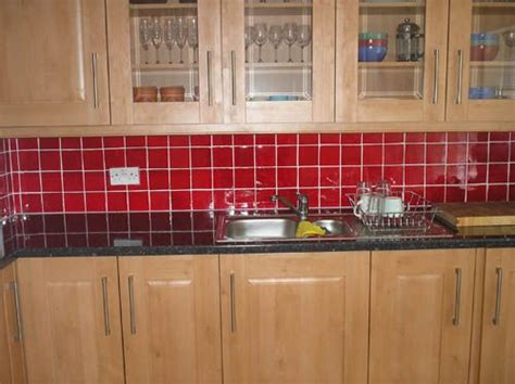 red tiles for kitchen backsplash red backsplash kitchen pinterest