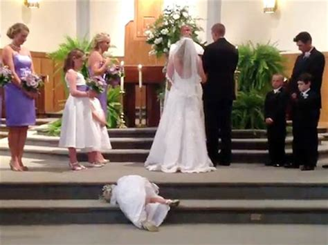 today brides an excuse to put your wedding dress on again undeniable proof that your flower girl is actually trying