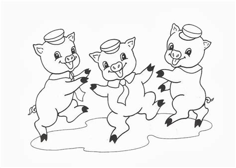 Printable Coloring Pages Three Little Pigs | three little pigs free colouring pages