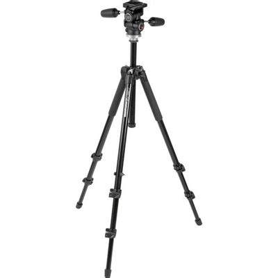 Manfrotto 294 Aluminum 3 Sections manfrotto 294 aluminum 3 section tripod with 3 way