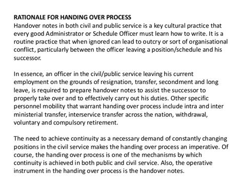 Service Handover Letter Sle How To Write A Handover Letter For Duties And
