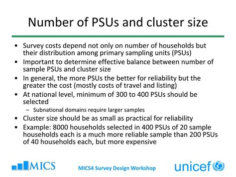 design effect for cluster surveys deff ppt multiple indicator cluster surveys survey design