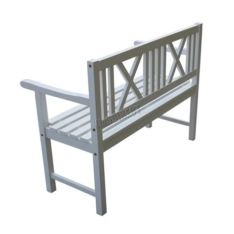 white outdoor bench seat foxhunter outdoor home 2 seat seater garden bench fir wood