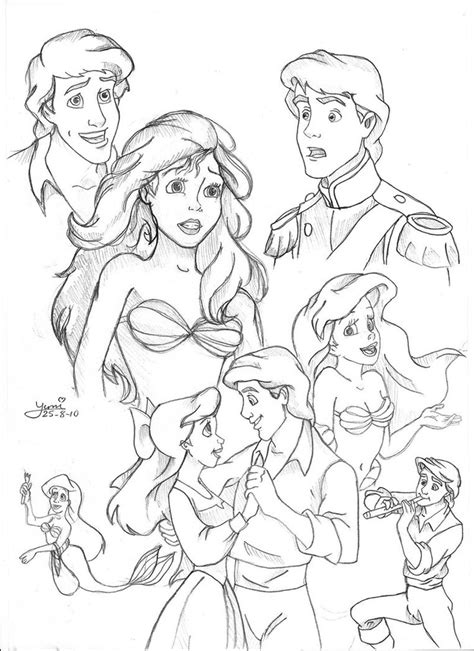 coloring pages ariel and eric coloring coloring books and ariel on pinterest
