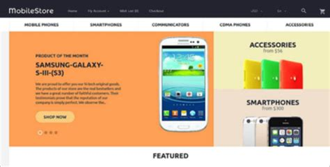 mobile store opencart templates free premium themes