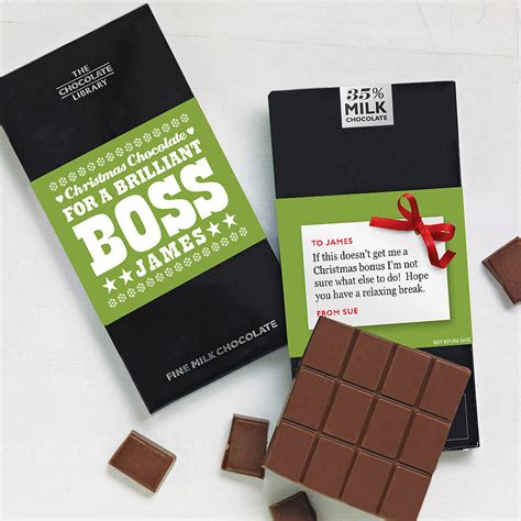 christmas chocolate for work colleagues by quirky gift