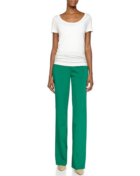 Flat Front Boot Cut escada flat front boot cut