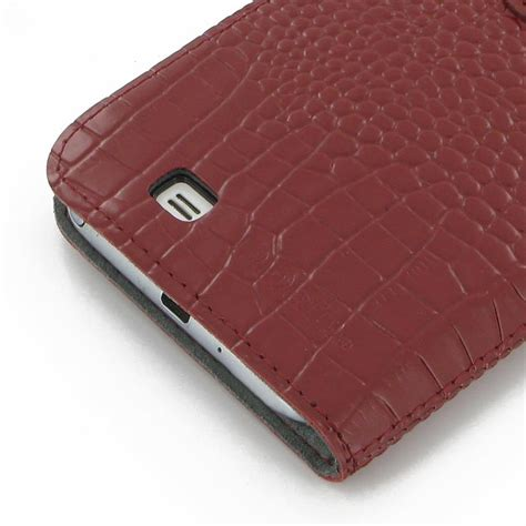 Samsung Galaxy 2 Casing Book Flip Cover Kasing samsung galaxy note 2 leather flip cover croc pattern pdair