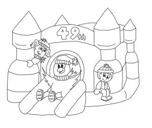 bouncy castle coloring page bounce castle coloring coloring pages