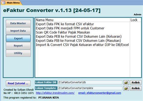 format csv ke excel efaktur converter cara mudah efektif cepat untuk