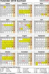 Kalender Sachsen 2018 Kalender 2018 Sachsen Ferien Feiertage Pdf Vorlagen