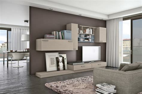 Drawing Room Cupboard Designs meuble mural salon offrant beaucoup d espace de rangement