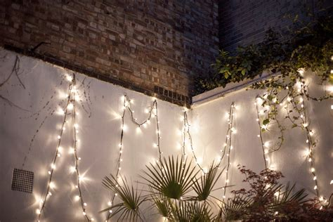 String Lights Wall - limit an outdoor hanging string lights med home