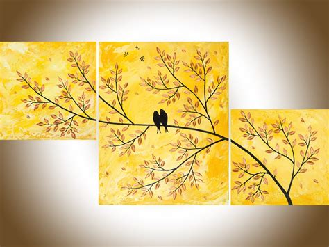 Tree Wall Mural golden love by qiqigallery 40 quot x20 quot original abstract love