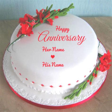 Wedding Anniversary Edit Name by Write Your Name On Anniversary Cakes Pictures Edit