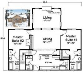 house plans with dual master bedrooms together floor bedroom