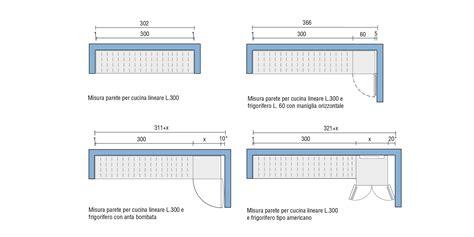 misure di una cucina lunghezza parete cucina progettazione valcucine