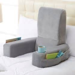 best bed reading pillow nap bed rest at brookstone buy now